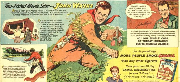 Camel Cigarettes - John Wayne Ad